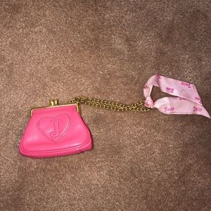 Juicy Couture Pink Leather Coin Purse